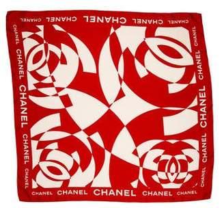 Chanel Silk Logo Scarf