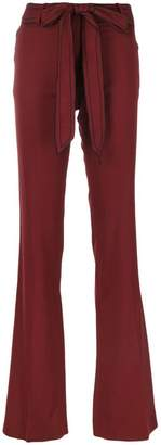 Victoria Beckham belted flared trousers