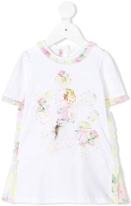 Miss Blumarine baby girl print dress