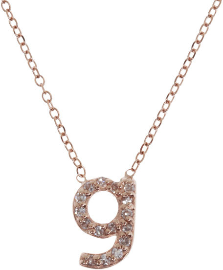 KC Designs Rose Gold Diamond Letter G Necklace