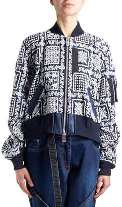 Sacai Hawaiian Bandana-Motif Bomber Jacket