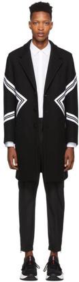 Neil Barrett Black Single-Breasted Standard Fit Modernist Coat