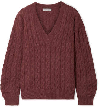 Vince Cable-knit Sweater - Antique rose