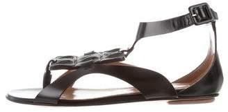 Alaia Veau Lux Crocodile Sandals w/ Tags