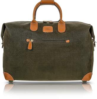 """Bric's Life - Olive Green Micro Suede 18"""" Carry-on Holdall"""