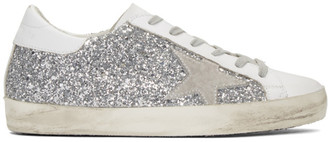 Golden Goose SSENSE Exclusive Silver Superstar Sneakers $495 thestylecure.com