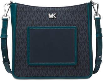 MICHAEL Michael Kors Signature Gloria Pocket Swing Leather Crossbody