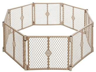 North States Industries Superyard Indoor Outdoor® 8 panel Freestanding Gate