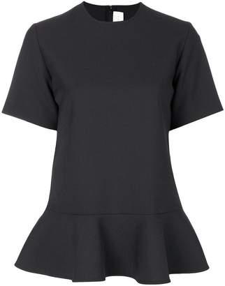 Victoria Beckham Victoria short-sleeve peplum blouse