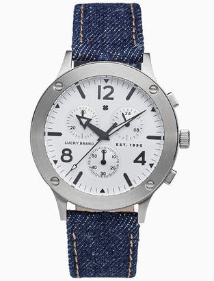 Lucky Brand ROCKPOINT MULTI-FUNCTION DENIM WATCH, 42MM