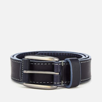 Ted Baker Men's Tirre Contrast Stitch Leather Belt