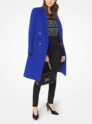 Michael Kors Wool-Blend Officer's Coat