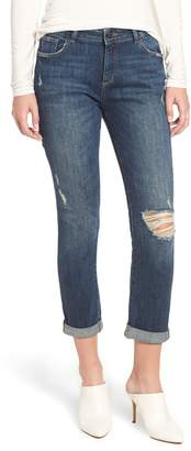 DL1961 Stevie Ripped Crop Slim Boyfriend Jeans