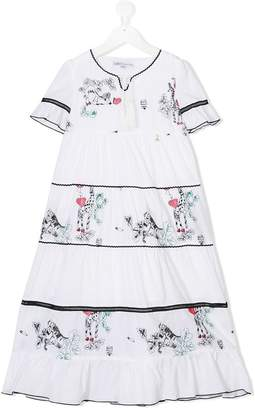 Patrizia Pepe Junior contrast panel dress