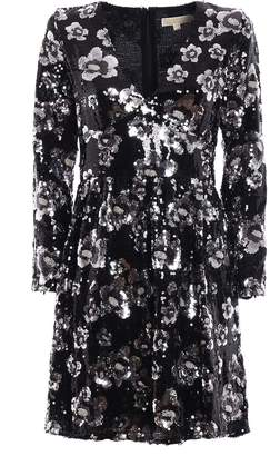 MICHAEL Michael Kors Bead And Sequin Embellished Dress