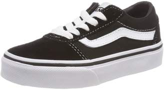 Vans Unisex Kids' Ward Low-Top Sneakers, (Suede/Canvas) Black/White Iju, 5 UK 5 UK