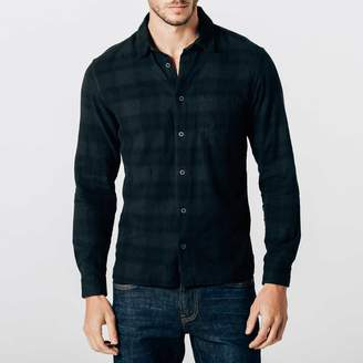 DSTLD Mens Button Down Shirt in Plaid Overdye