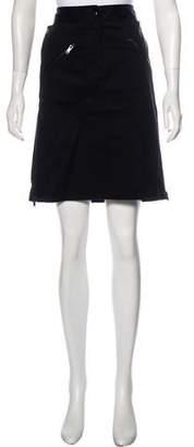 DKNY Zip-Up Knee-Length Skirt