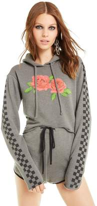 Wildfox Couture Checkered Rose Ivy Hoodie | Forest