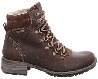 Josef Seibel Sandra 66 Lace Up Ankle Boots, Brown Leather