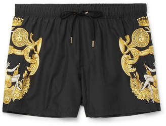 Versace Slim-Fit Short-Length Printed Swim Shorts