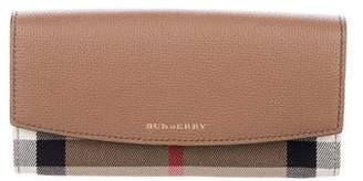 Burberry House Check Porter Continental Wallet w/ Tags
