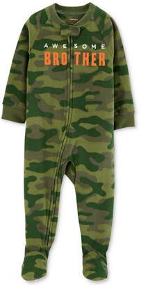 Carter's Baby Boys Brother Camo Footed Fleece Pajamas