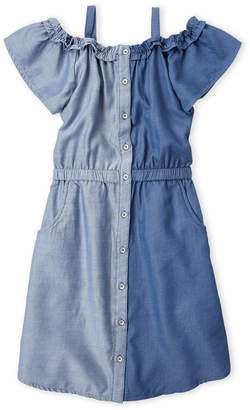 Levi's Girls 7-16) Two-Tone Chambray Cold Shoulder Dress