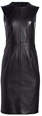 Saks Fifth Avenue Women's COLLECTION Leather Sheath Dress