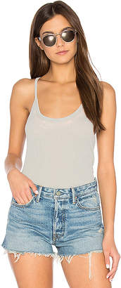 Chaser Rib T-Back Cami in Gray $46 thestylecure.com