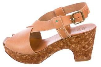 Henry Cuir Leather Platform Sandals