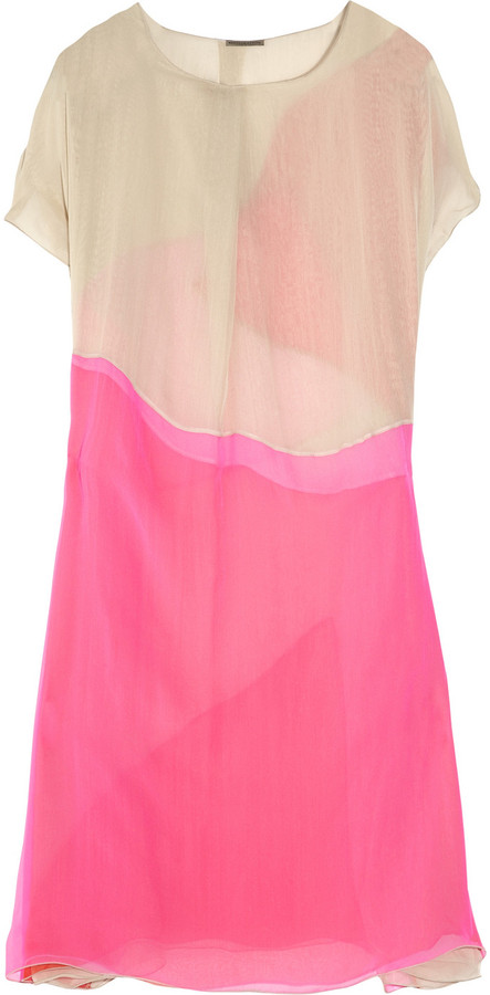 Bottega Veneta Layered silk-chiffon dress