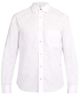 Paul Smith Single Cuff Striped Trim Cotton Shirt - Mens - White