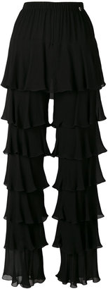 Twin-Set layered ruffled straight trousers $267.40 thestylecure.com
