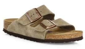 Birkenstock Women's Arizona Suede Double-Strap Sandals - Taupe - Size 37 (6)