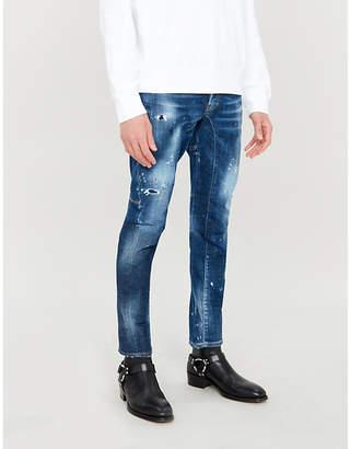 DSQUARED2 Tidy Biker slim-fit stretch-denim skinny jeans