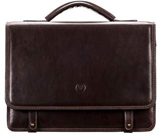 Maxwell Scott Bags Classic Brown Leather Men S Satchel Briefcase