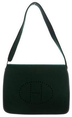Hermes Feu2Dou Felt Green Bag