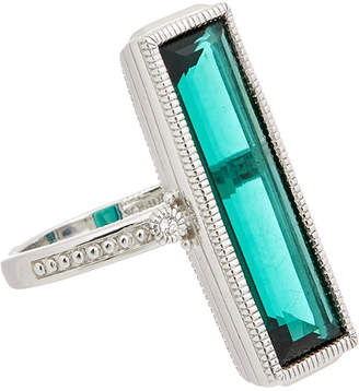 Judith Ripka Sanibel Silver 7.06 Ct. Tw. Gemstone Ring