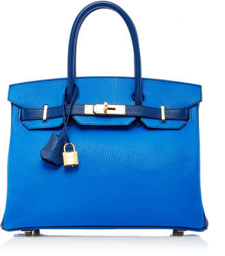 Hermes Heritage Auctions Special Collections 30Cm Blue Hydra & Blue Sapphir Chevre Leather Special Order Horseshoe Birkin