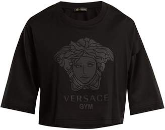 Versace Logo-print cotton T-shirt