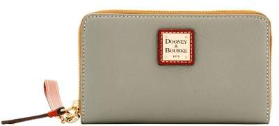 Dooney & Bourke Pebble Grain Zip Around Phone Wristlet - SMOKE - STYLE