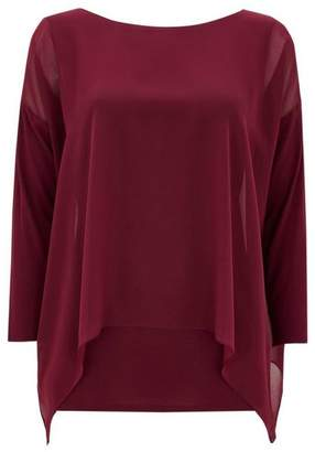 Wallis Berry Chiffon Layered Top