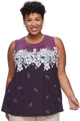 Croft & Barrow Plus Size Pleated Swing Tank