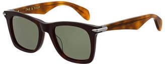 Rag & Bone Men's Two-Tone Square Acetate Sunglasses