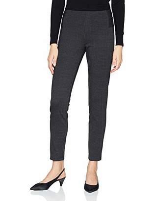 Comma Women's 81.811.76.3447 Trousers, Multicolour Printed Check 99N0
