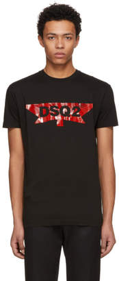 DSQUARED2 Black Logo Long Cool T-Shirt