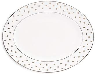 Kate Spade Larabee Road Platinum-Accented Bone China Oval Platter