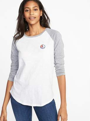 Old Navy Relaxed Graphic Raglan-Sleeve Tee for Women