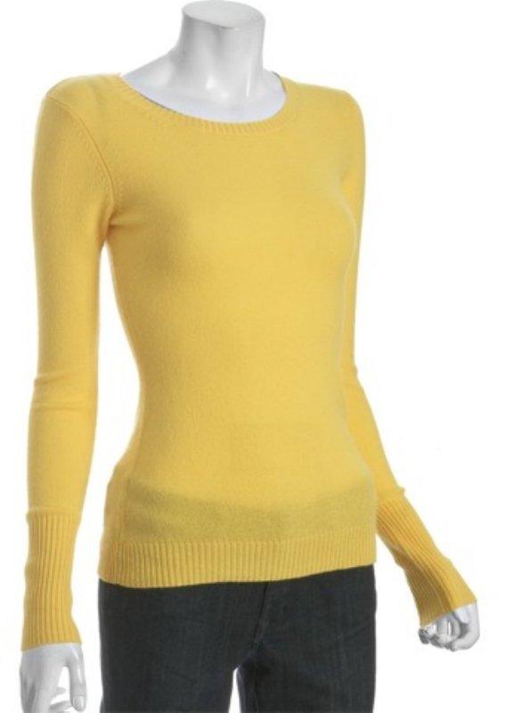 Autumn Cashmere marigold cashmere basic crewneck sweater